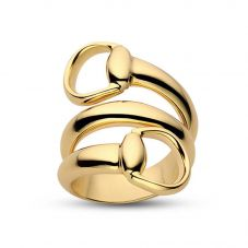 Gucci Horsebit 18ct Gold  Crossover Ring YBC233961002018 Q