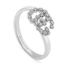 Gucci GG 18ct White Gold Diamond Ring YBC481650001