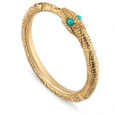 Gucci Ouroboros 18ct Gold Snake Ring YBC526575001