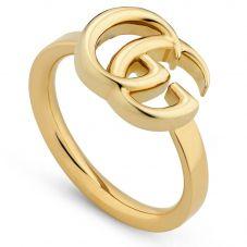 Gucci GG Running 18ct Gold Thin Ring YBC525690001