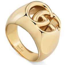 Gucci GG Running 18ct Gold Wide Ring YBC525732001