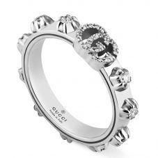 Gucci GG Running 18ct White Gold Diamond Ring YBC554303001