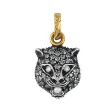 Gucci Le Marché 18ct Gold Diamond Set Cat Charm YBG52514600300U