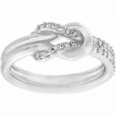 Swarovski Voile Clear Crystal Pavé Knot Ring
