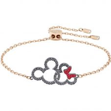 Swarovski Mickey And Minnie Rose Gold Tone Bracelet 5435138
