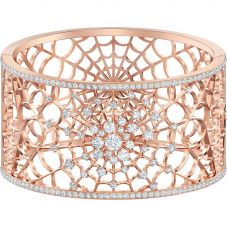Swarovski Precisely White Crystal Rose Gold Tone Web Cuff 5503825