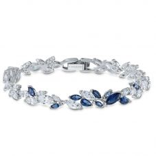Swarovski Louison Blue and White Crystal Bracelet 5536548
