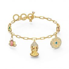 Swarovski Symbolic Gold Tone Plated Multi-Coloured Crystal Buddha Bracelet 5514410 M