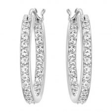 Swarovski Summerset Clear Pavé Hoops 1172374