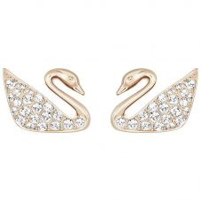 Swarovski Swan Rose Gold Tone Earrings 5144289