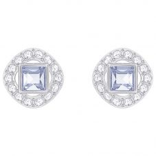 Swarovski Angelic Square Blue Earrings 5352048
