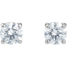 Swarovski Attract White Crystal Round Stud Earrings 5509937