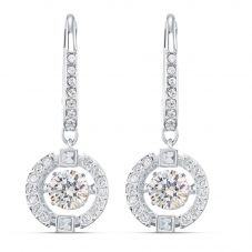 Swarovski Sparkling Dance White Crystal Dropper Earrings 5504652