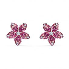 Swarovski Tropical Pink Crystal Flower Stud Earrings 5519254