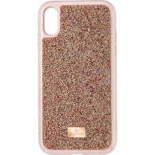 Swarovski Glam Rock Iphone XR Rose Gold Tone Crystal Phone Case 5506306