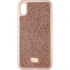 Swarovski Glam Rock Iphone XS Max Rose Gold Tone Crystal Phone Case 5506307