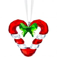 Swarovski Candy Cane Heart Ornament Figurine 5403314