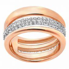 Swarovski Exact Rose Gold Tone Two Row Ring