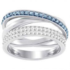 Swarovski Hero Blue Crystal Crossover Ring 5372862