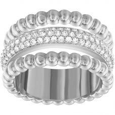Swarovski Click Rose Tone Three Row Bobble Ring  5140093 52