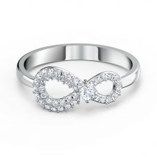 Swarovski Infinity White Crystal Ring 5520580 55