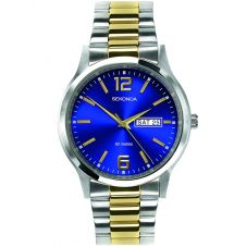 Sekonda Mens 2 Tone Bracelet Watch 1613