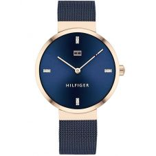 Tommy Hilfiger Ladies Liberty Blue Stainless Steel Mesh Bracelet Navy Watch 1782219
