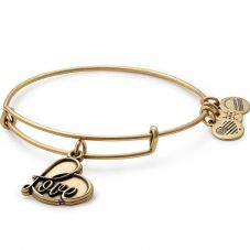 ALEX AND ANI Gold Finish Love Charm Bangle A17EB05RG