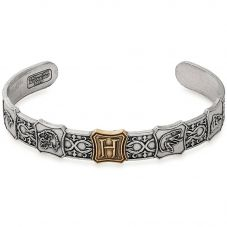 ALEX AND ANI Silver Home Of Hogwarts Cuff Bangle AS18HP27TTRS