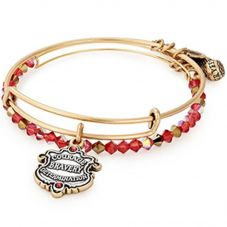 ALEX AND ANI Gold Gryffindor Motto Bangle Set AS18HP46TTRG