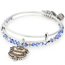 ALEX AND ANI Silver Ravenclaw Motto Bangle Set AS18HP48TTRS