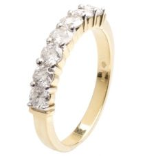 18ct Gold Seven Stone Diamond Half Eternity Ring 18DR153-Y