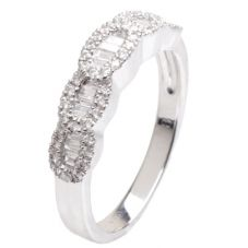 18ct White Gold Diamond Half Eternity Ring 18DR288-W