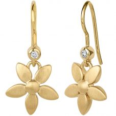 byBiehl Gold Plated Forget Me Not Dropper Earrings 4-017-GP