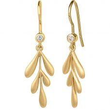 byBiehl Gold Plated Forest Dropper Earrings 4-2301A-GP
