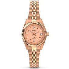 Sekonda Rose-Gold Pink Diamond Dial Bracelet Watch 2063