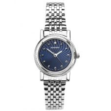 Sekonda Ladies Patterned Navy Sunray Dial Stainless Steel Watch 2698