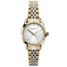 Sekonda Ladies Silver Stone Set Dial Gold Plated Two Tone Bracelet Watch 2889