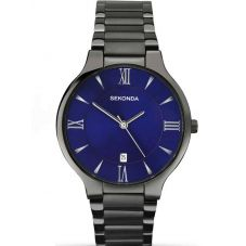 Sekonda Mens Equinox Dark Grey Blue Dial Bracelet Watch 1140