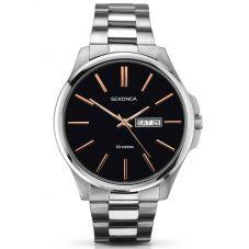 Sekonda Mens Black Stainless Steel Bracelet Watch 1097