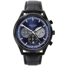 Sekonda Mens Black Chronograph Watch 1593