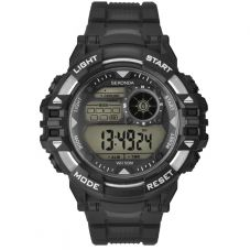 Sekonda Mens Black Rubber Digital Watch 1522