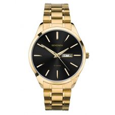 Sekonda Mens Gold Plated Day Date Bracelet Watch 1644