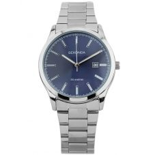 Sekonda Mens Classic Stainless Steel Blue Dial Bracelet Watch 1656