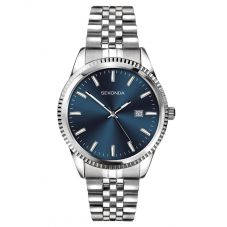 Sekonda Mens Classic Stainless Steel Blue Dial Bracelet Watch 1640
