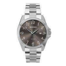 Sekonda Mens Dark Grey Dial Stainless Steel Bracelet Watch 1636
