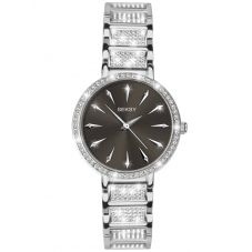 Sekonda Ladies Seksy Black Sunray Dial Stone Set Bracelet Watch 2731