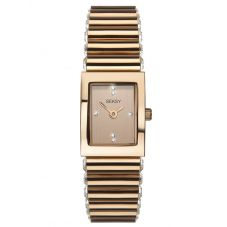 Sekonda Ladies Seksy Edge Silver Stone Set Rose Gold Plated Bracelet Watch 2868