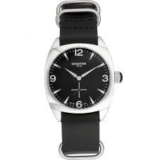Minster 1949 Mens Burlington Black Leather Strap Watch MN04BKSL10