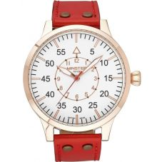 Minster 1949 Mens Bradnor Red Leather Strap Watch MN02WHRG10